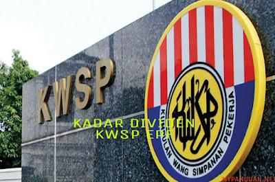 Kadar Dividen KWSP EPF 2017/2018