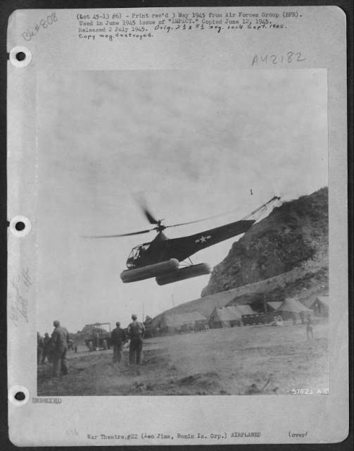 Sikorsky R-4 helicopter Iwo Jima World War II worldwartwo.filminspector.com