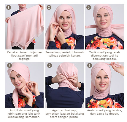 ... Cara Memakai Hijab Segi Empat Modern ala Dewi Sandra Kreasi Terbaru