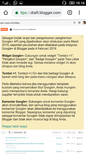 Imbas Google+ ditutup bagi Blogger
