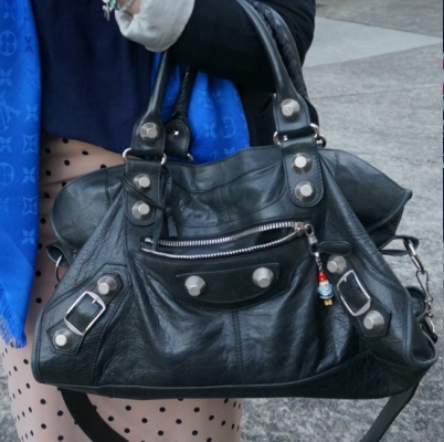 Balenciaga part time in black 2010 with SGH plus polka dot pencil skirt | awayfromtheblue