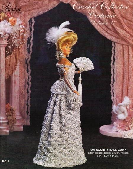 Roupa e Acessórios de Crochê Para Barbie  Crochet Collector Costume Volume 17
