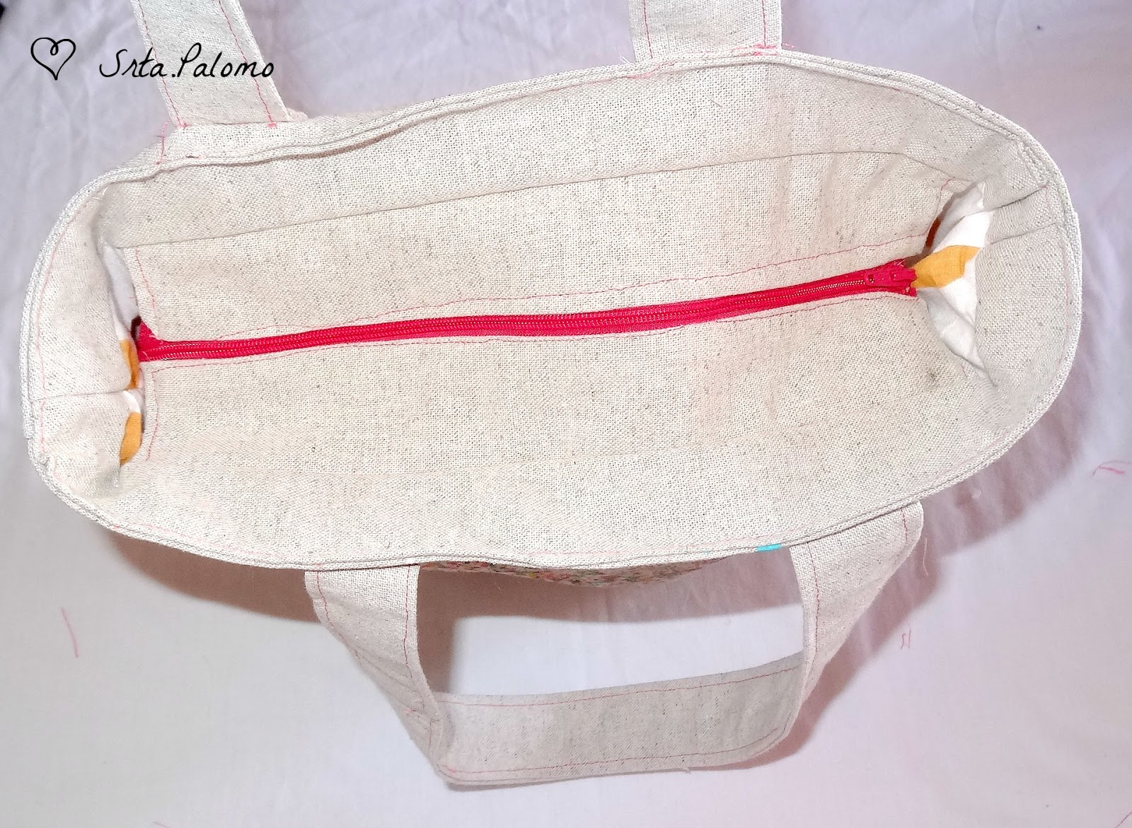 tutorial tote bag con cremallera