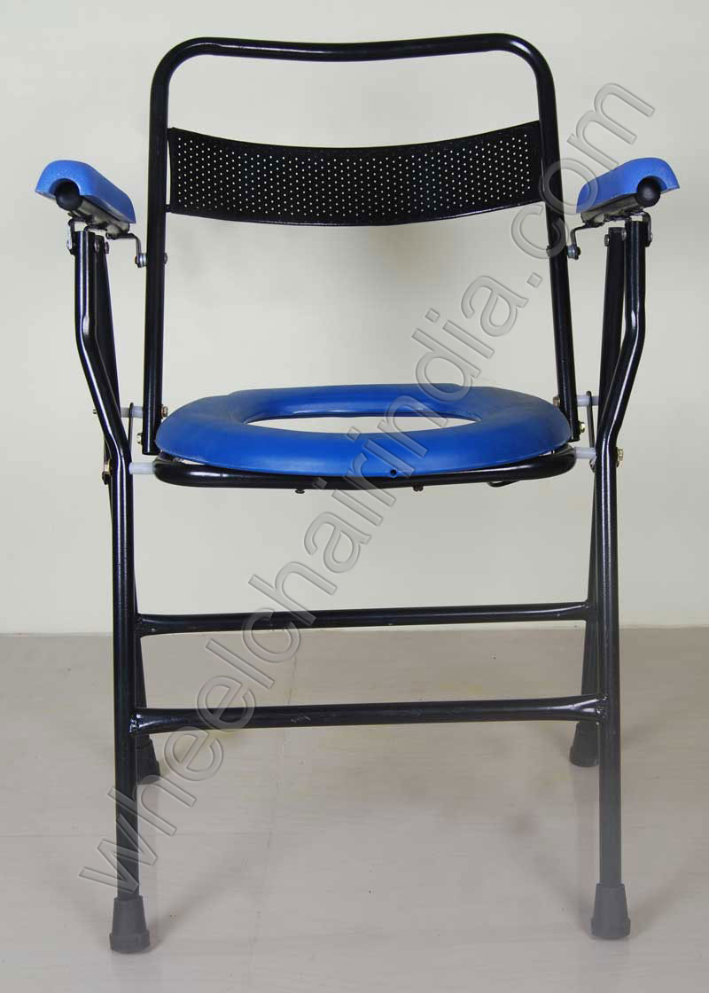 Folding Commode Chair for Handicapped People | Wheelchair India ...