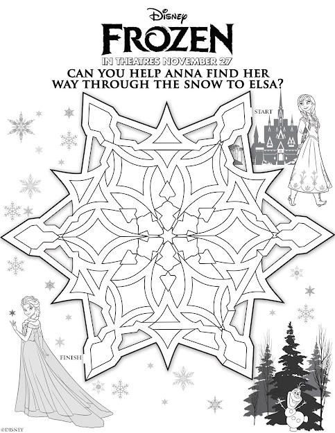 Disney Frozen Help Anna Find Elsa Maze Printable