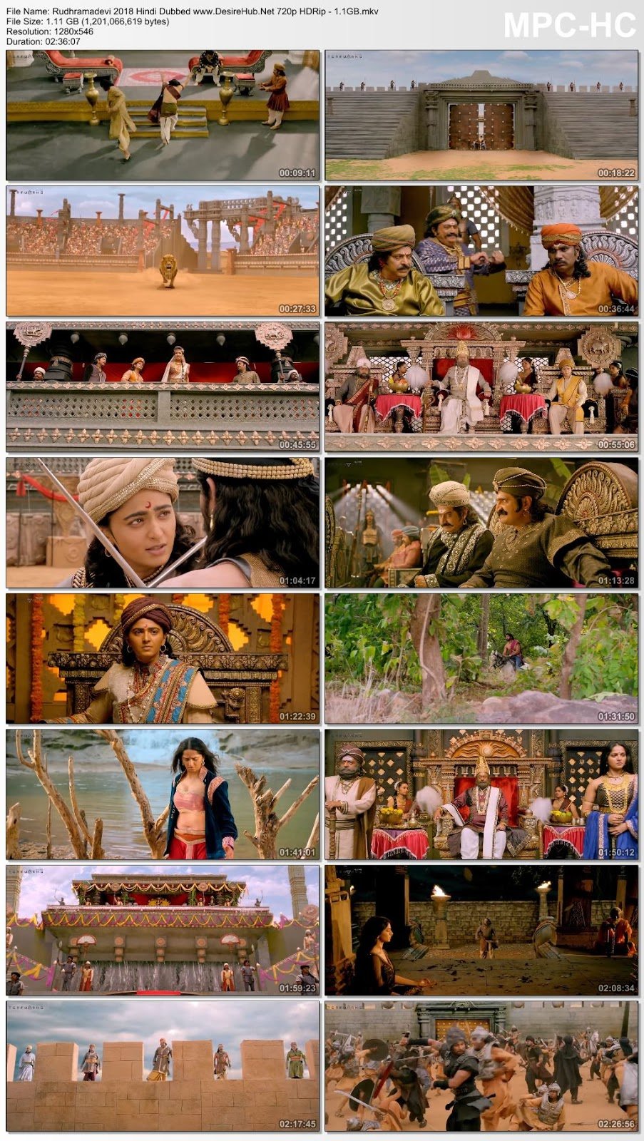 Rudhramadevi (2018) Hindi Dubbed 720p HDRip – 1.1GB Desirehub