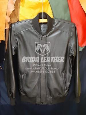 Jual Jaket Kulit Asli Garut Pria Domba Original Brida Leather M03 | WA 08813430588