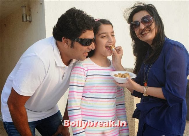 Farzad and Amy Billimoria with Daughter Araiaan, Amy Billimoria fly kites on Makar Sankranti