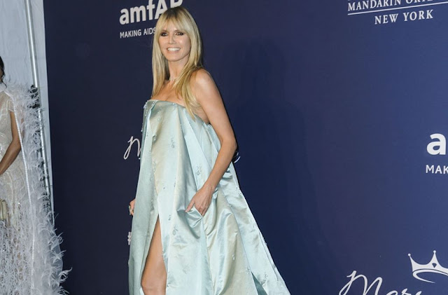 Model Heidi Klum is a permanent guest at the amfAR gala in New York. Photo: AP / Christopher Smith