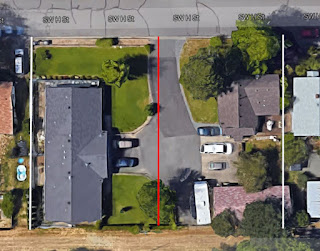 913 SW H street Grants PAss Property line