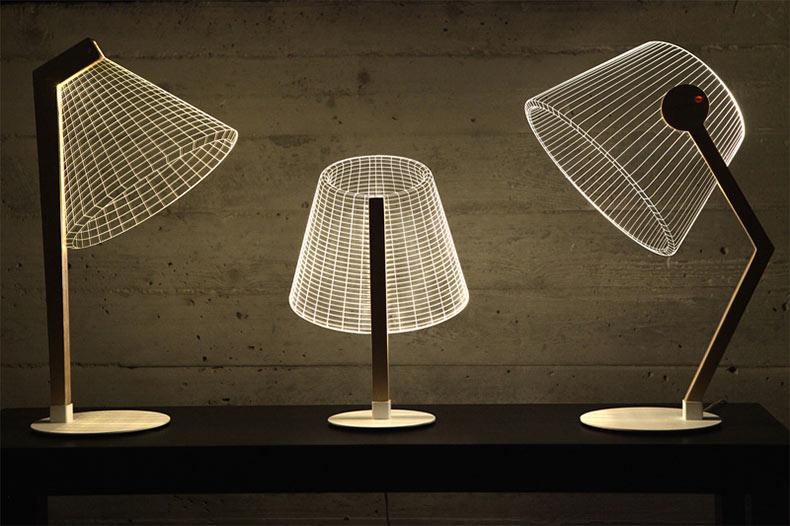 Lámparas bulbificación - Lámparas de mesa con resultado 3D