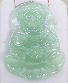 translucent imperial green Buddha pendant for sale