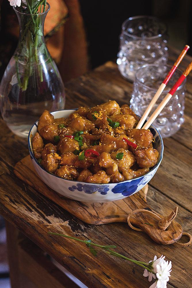 Pollo chino a la naranja