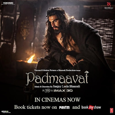 Ranveer Singh  in Padmaavat movie poster