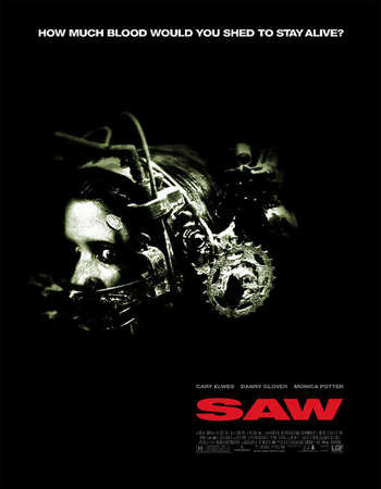 Poster Of Saw 2004 English 120MB BRRip HEVC Mobile ESubs Watch Online Free Download Worldfree4u