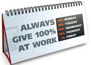 kalender always give 100% at work