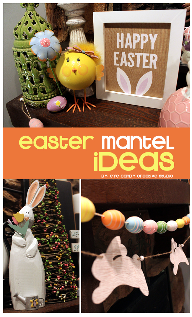 decorating for easter, easter mantel ideas, easter decorating
