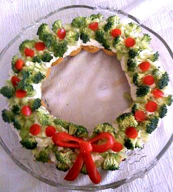 Antipasti Di Natale Con Verdure.Ghirlanda Di Verdure Antipasti Di Natale