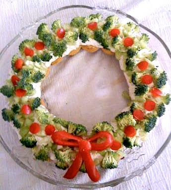 Antipasto Di Natale Leggero.Ghirlanda Di Verdure Antipasti Di Natale