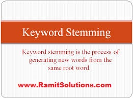 Keyword Stemming