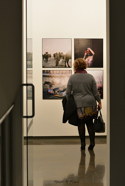 Visitante admirando algunas fotografías de la World Press Photo 2015