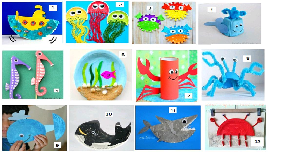 Animales Acuaticos Marinas Manualidades Infantiles Www Imagenesmy Com