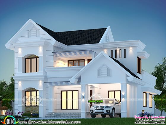 Mixed roof house rendering