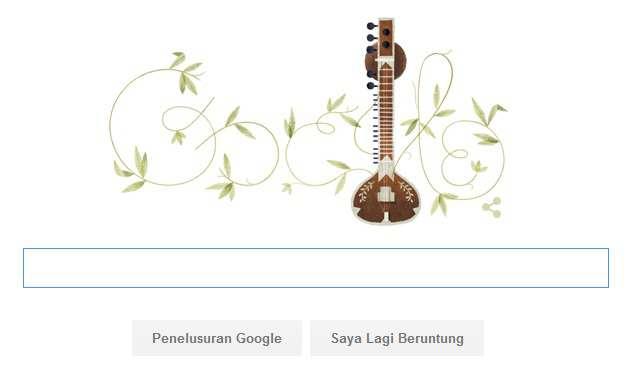 Biodata Profil Pandit Ravi Shankar Pemain Sitar Hari ini Di Google Doodle Merayakan Ulathnya ke 96 Tahun