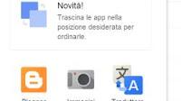 Aggiungere collegamenti al menu Google