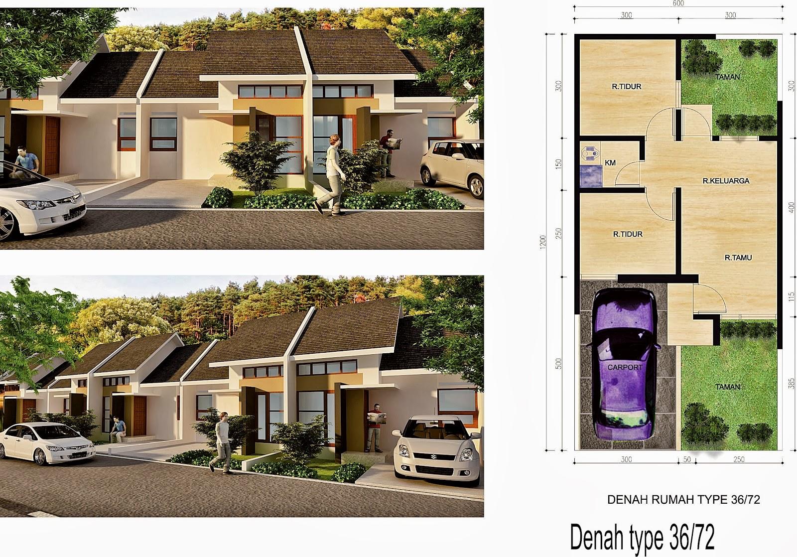 Rumah Minimalis Cat Abu Abu Terbaru Denah Rumah Type 36