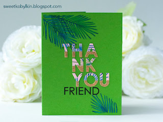 Clean and Simple Card with Gold Dipped Die Cut Letters