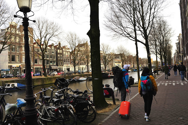 Amsterdam Visitors Carrying Luggage