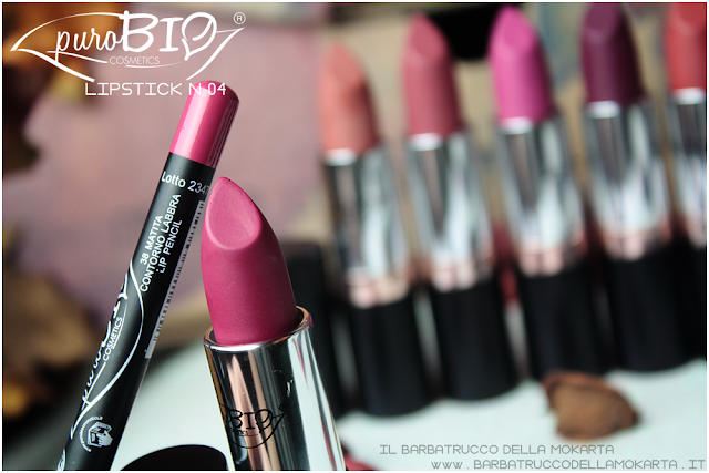 matita n 38,  lipstick n 04 ,  rossetti purobio , lipstick, vegan makeup, bio makeup