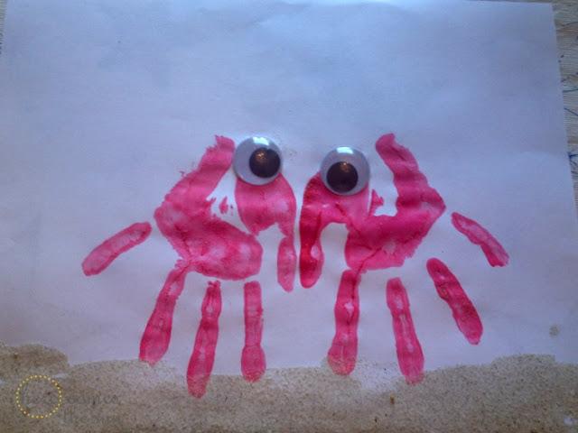 DIY handprint crab
