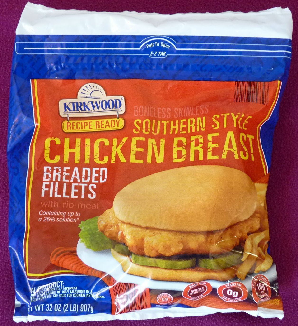 Kirkwood Southern Style Chicken Breast Breaded Fillets