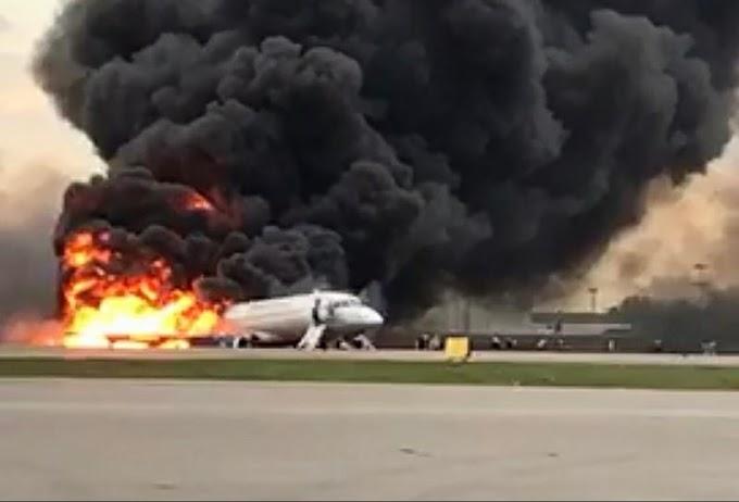 Aterrissagem de avião em chamas deixa 41 mortos na Rússia