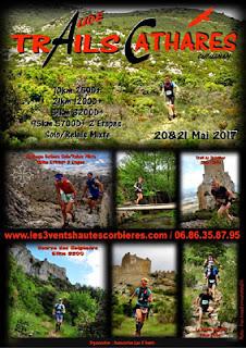 l'affiche 2017 des trails cathares