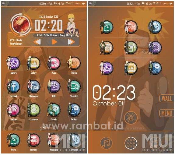 Tema Xiaomi Naruto Shippudden Keren MIUI 8