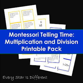 Montessori Telling Time: Multiplication and Division Printable Pack