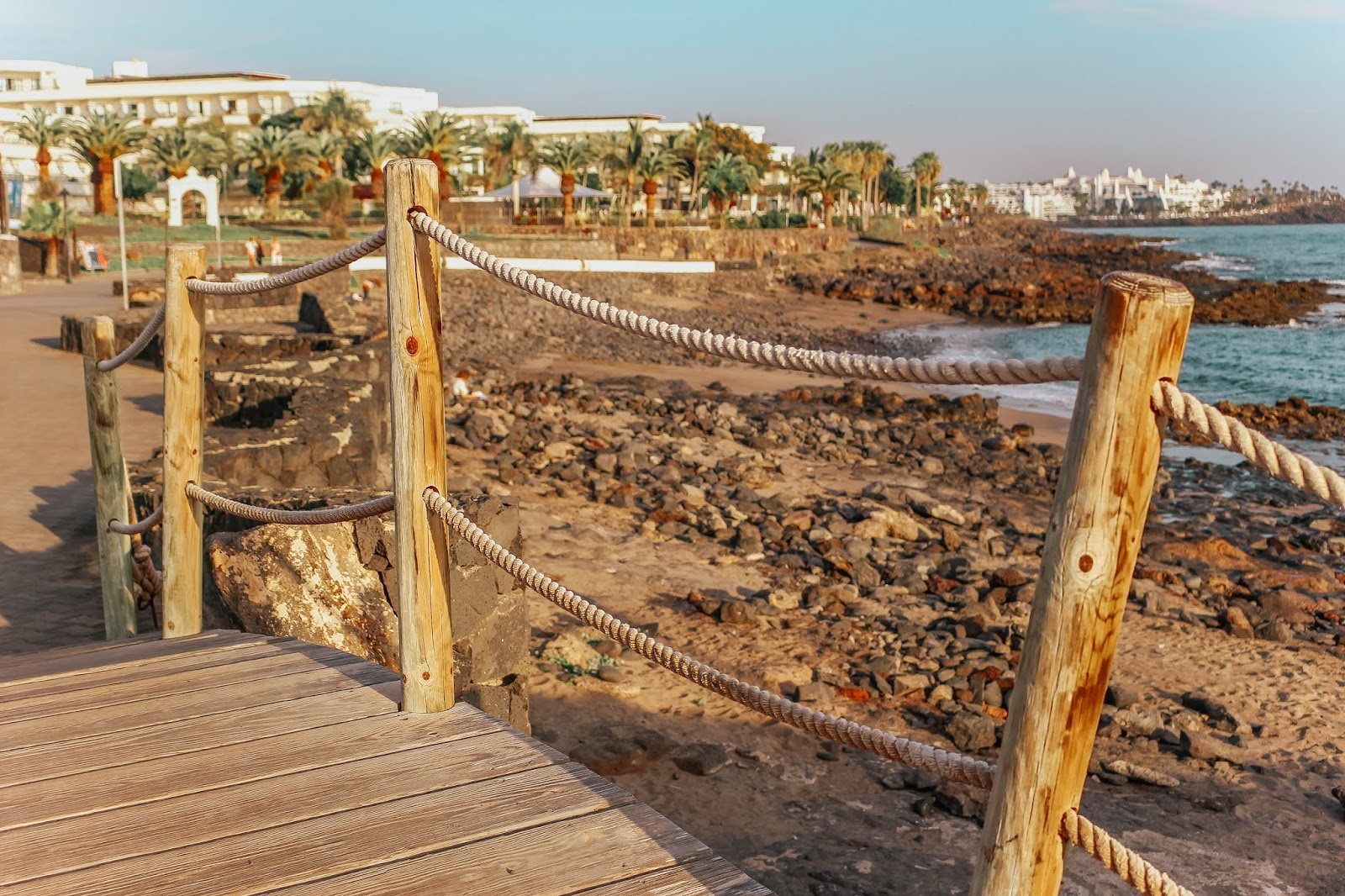 Lanzarote Playa Blanca Seafront Beach Walk