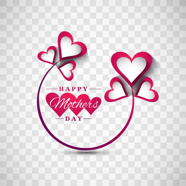 Cute mothers day background Free Vector