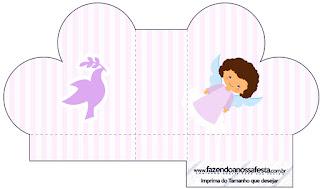 Brunette Angel Girl:, Heart Shaped Open Box.