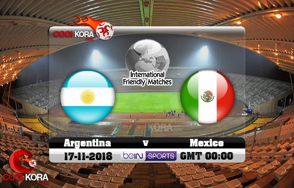 مشاهدة مباراة الأرجنتين والمكسيك اليوم 17-11-2018 مباراة ودية