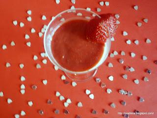 Πανακότα με σως φράουλας