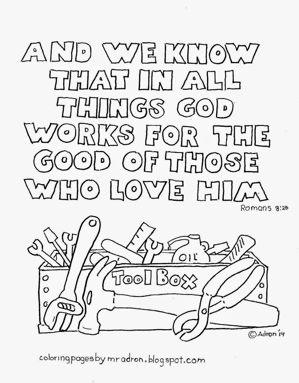 Coloring Pages for Kids by Mr. Adron: In Everything God
