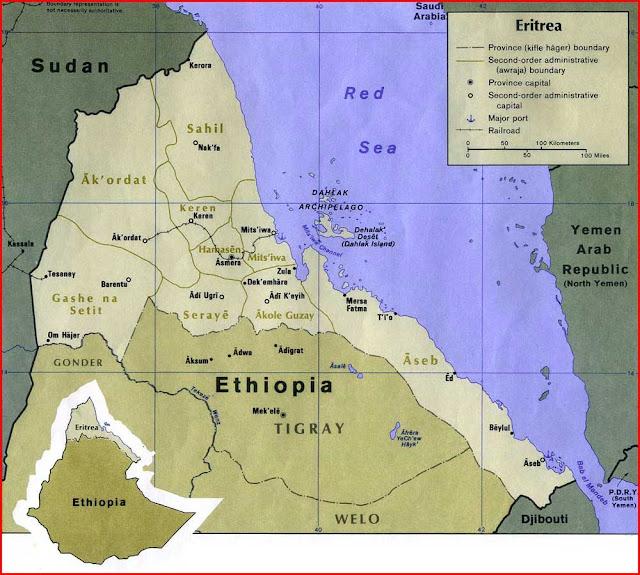 Gambar Peta politik Eritrea