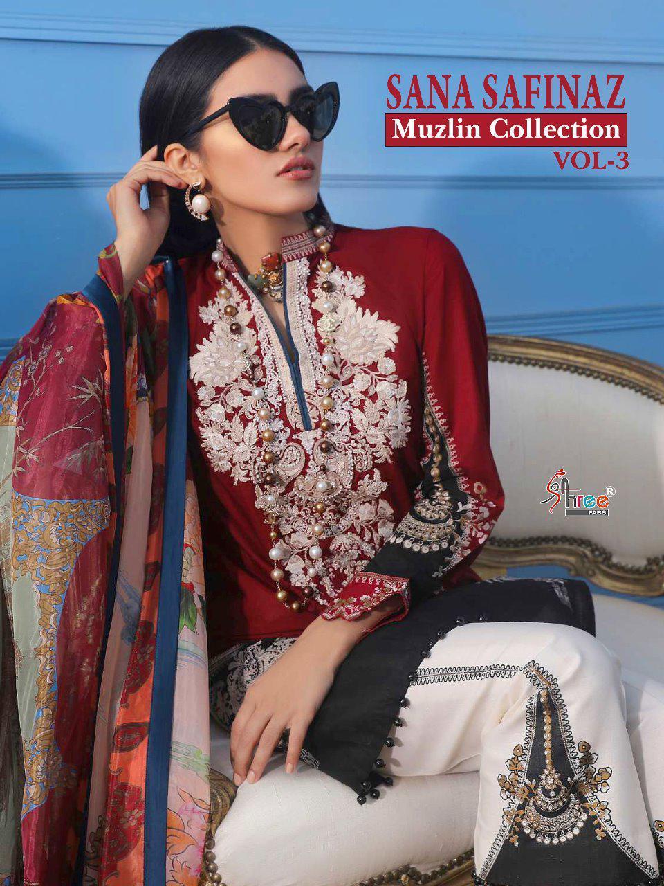 584aae0268 Shree fab Sana Safinaz Muzlin Collection vol 3 Pakistani Suits ...