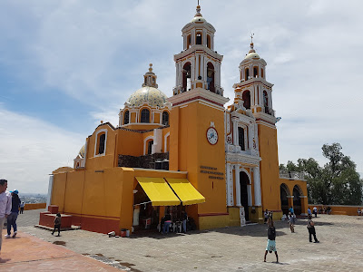 The church on top of the former Tlachihualtepetl pyramid in Cholula