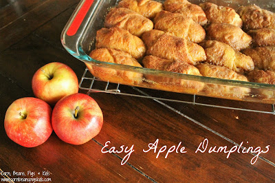 Easy Apple Dumplings #AppleWeek #sponsored