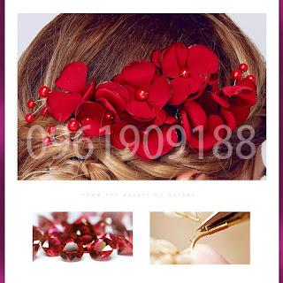 Hoa cài tóc cô dâu xinh xắn, hiện đại chắc chắn bạn sẽ thích 1